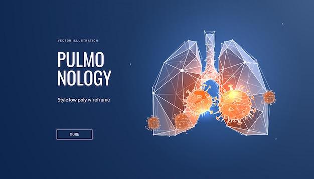 Malattia polmonare concetto di pneumologia e malattia polmonare.