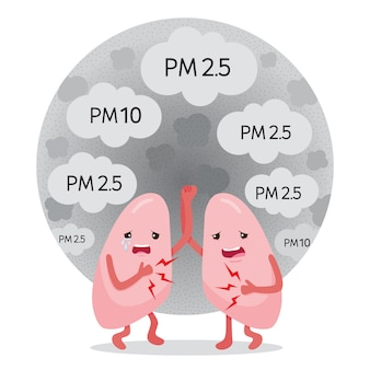Polmoni malati di polvere, fumo, smog