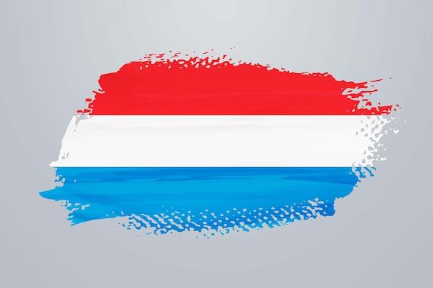 Bandiera della vernice del pennello del lussemburgo