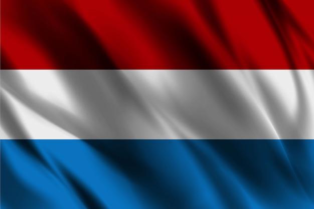 Bandiera del lussemburgo che ondeggia fondo astratto