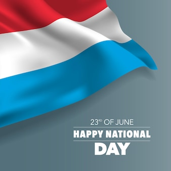 Cartolina d'auguri di felice giornata nazionale del lussemburgo, banner