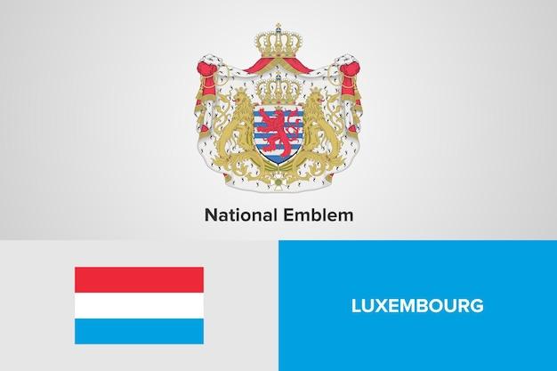 Modello di bandiera nazionale dell'emblema del lussemburgo