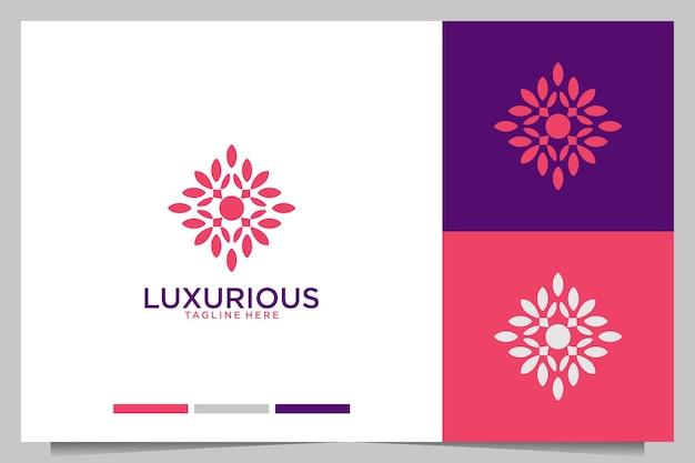 Lussuoso design del logo della geometria della bellezza