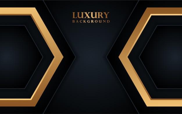 Lussuoso sfondo nero con linea oro
