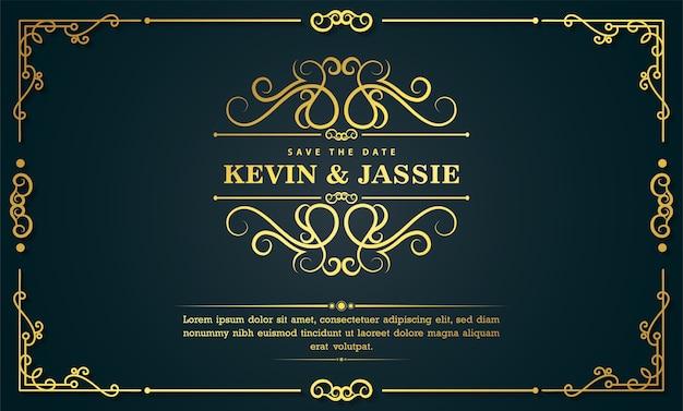 Lussuosa copertina nera e oro con design ornamentale