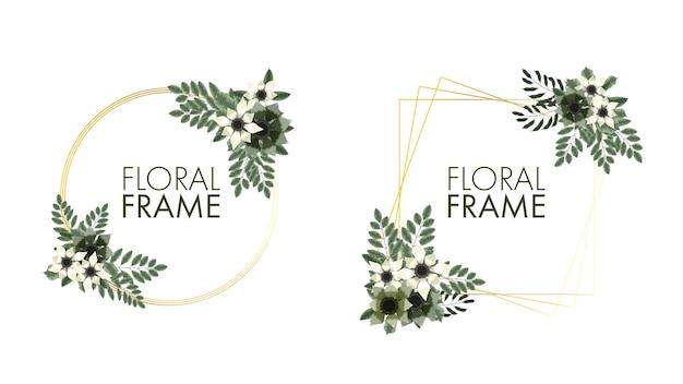 Il prezzo di vendita dell'etichetta del fondo delle cornici floreali variopinte lussuose invita