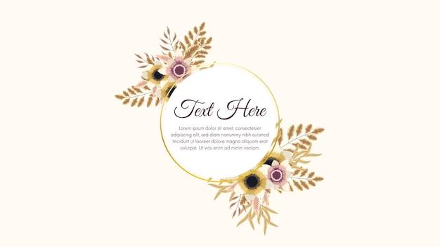 Sfondo di cornici floreali colorate di lusso con un'etichetta vintage illistration vettoriale per il saluto