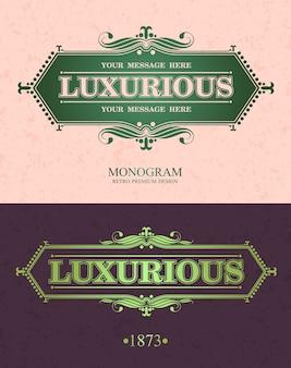 Cornice ornamentale di elementi di design di lusso.