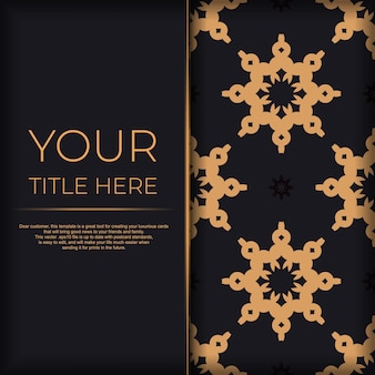 Biglietto d'invito di lusso con ornamento indiano vintage. può essere utilizzato come sfondo e sfondo. elementi vettoriali eleganti e classici pronti per la stampa e la tipografia.