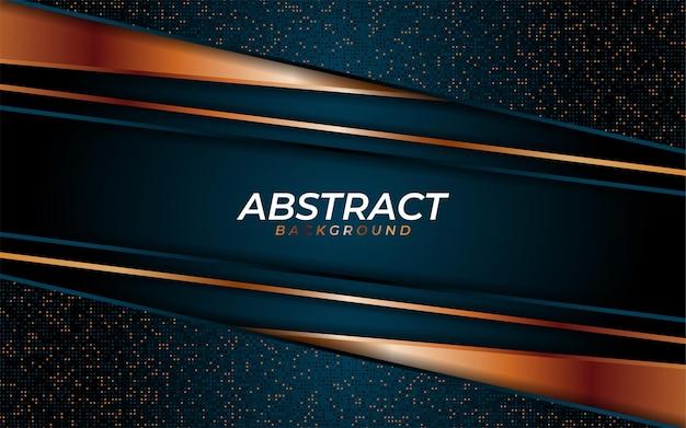 Lussuoso sfondo blu navy con trama dinamica e combinazione con linee geometriche