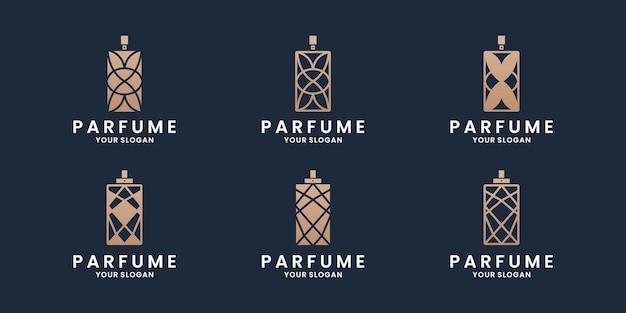 Lussuose collezioni di design del logo del profumo