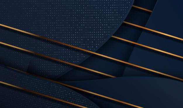 Sfondo astratto di lusso 3d papercut futuristico