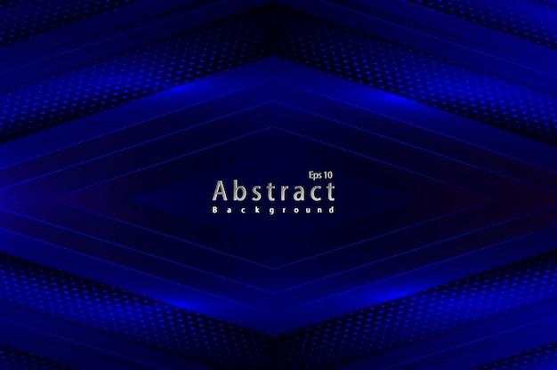 Fondo di semitono della decorazione della luce blu astratta del papercut di lusso