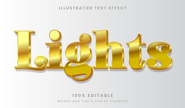 Stile del carattere di effetto testo modificabile dorato antico di lusso