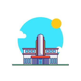 Progettazione di illustrazione vettoriale di condominio di lusso