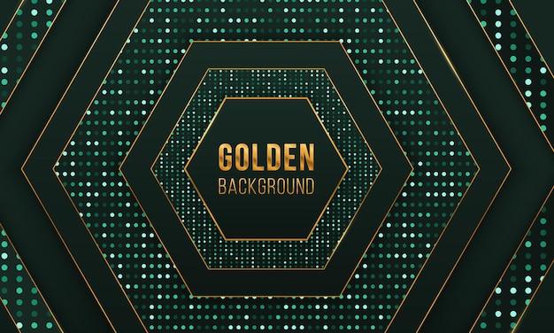 Cerchio scintillante di sfondo di lusso con glitter dorati