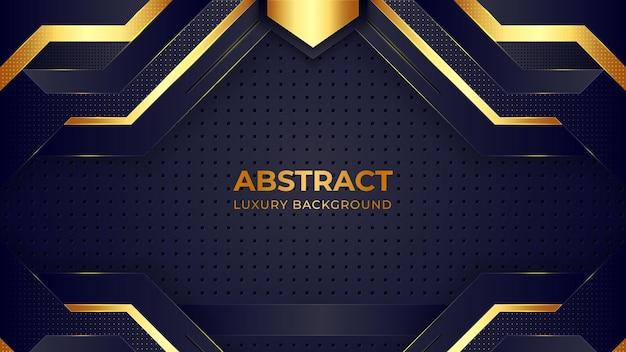 Modello di sfondo di lusso con motivo dorato.