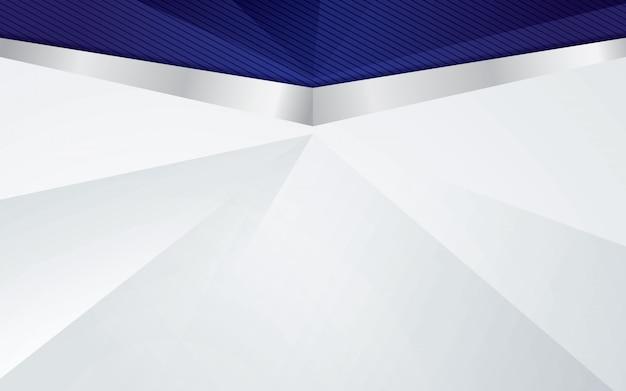 Sfondo di lusso con bordo argento e colore blu