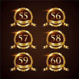 Luxury badge anniversary