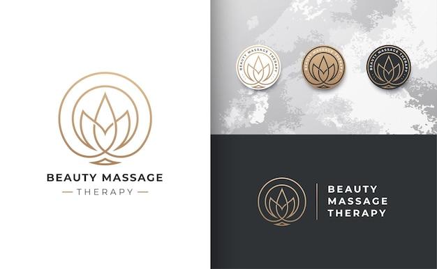 Logo del fiore di loto distintivo di lusso