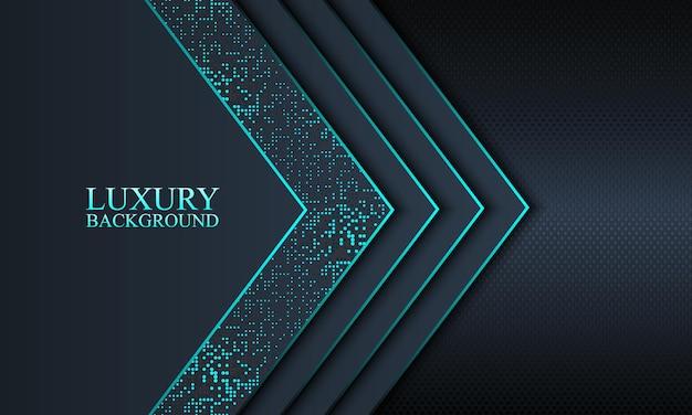 Sfondo banner di lusso con blu scuro e strisce sovrapposte a strati e linee blu. illustrazione vettoriale.
