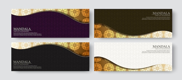 Design di banner di lusso con stile pattern texture
