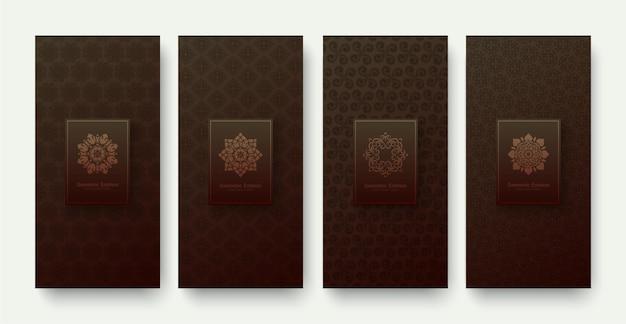 Banner di lusso ornamento design pattern