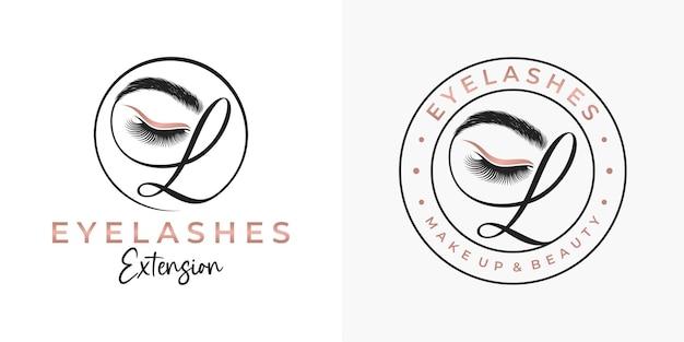 Design del logo di lusso ciglia di bellezza