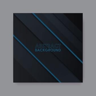 Sfondo nero di lusso con linea blu