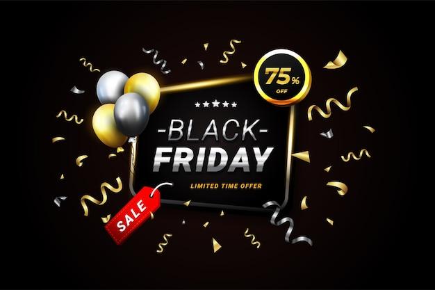 Banner di vendita super venerdì nero di lusso