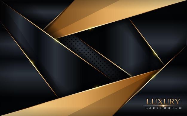 Sfondo di lusso nero e oro