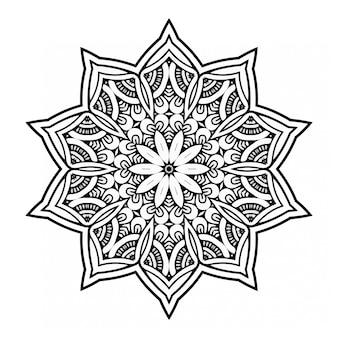 Mandala di lusso in bianco e nero