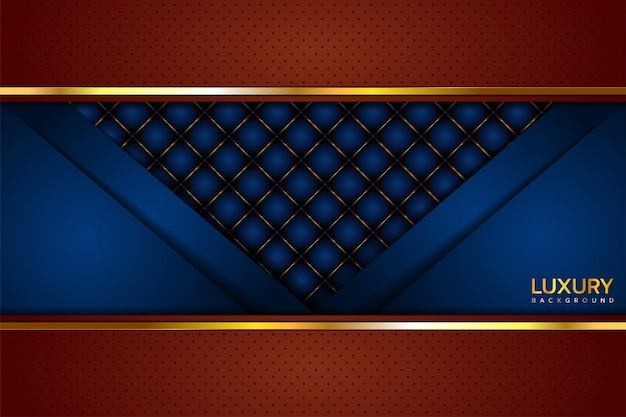 Sfondo marrone blu di lusso