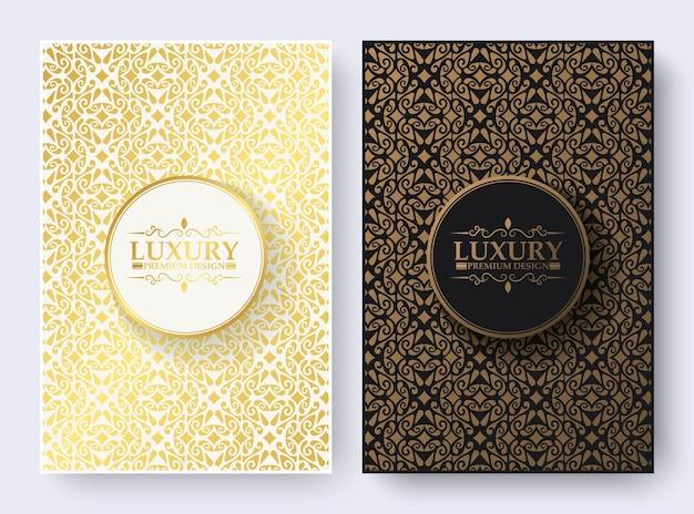 Copertina di libro di lusso con trama motivo ornamentale