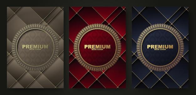 Collezione di design di copertina di libro di lusso bordo cerchio