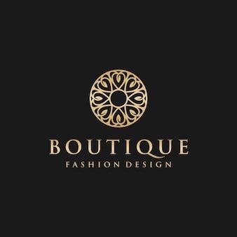 Modello di progettazione di logo boutique di lusso
