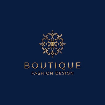 Modello di logo boutique di lusso