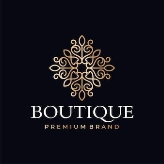 Modelli di logo di boutique di lusso