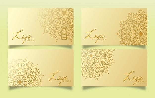 Design di lusso per biglietti da visita con design mandala