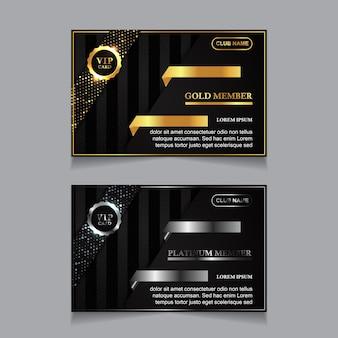 Modello di carte d'identità aziendali di lusso