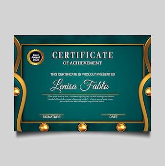 Certificato di lusso conseguimento verde