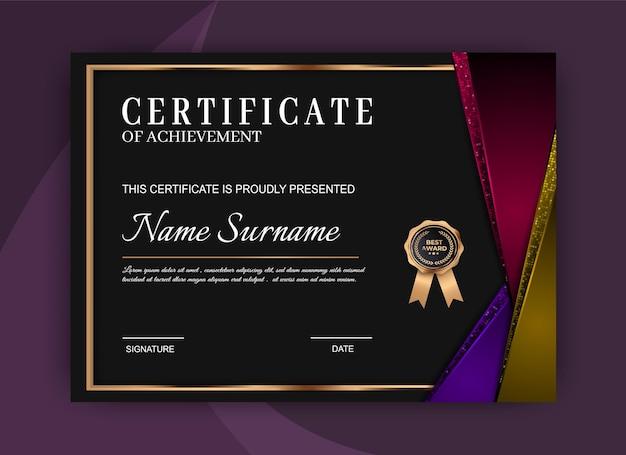 Certificato di lusso del modello di realizzazione