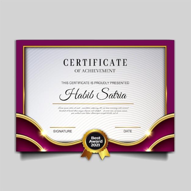 Modello di conseguimento del certificato di lusso