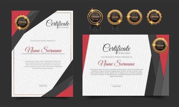 Modello di certificato di apprezzamento di lusso
