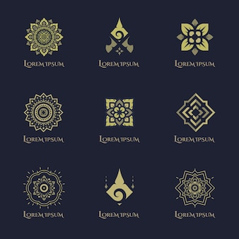 Design del logo di concetto di lusso.