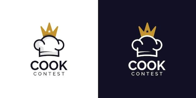 Modello di progettazione del logo del concorso di cucina di lusso