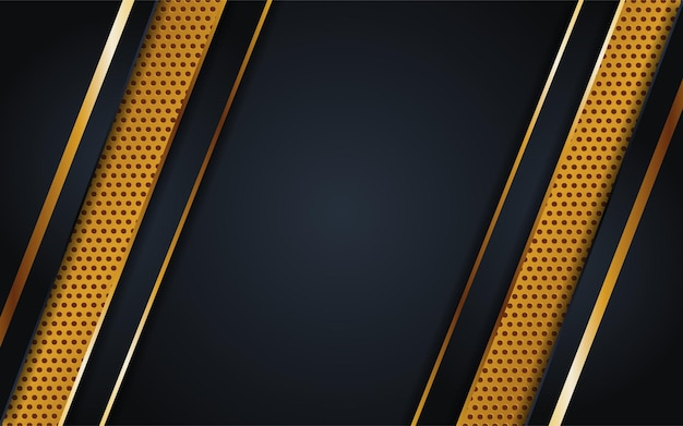 Combinazione di sfondo scuro di lusso con linea di trama a punti oro