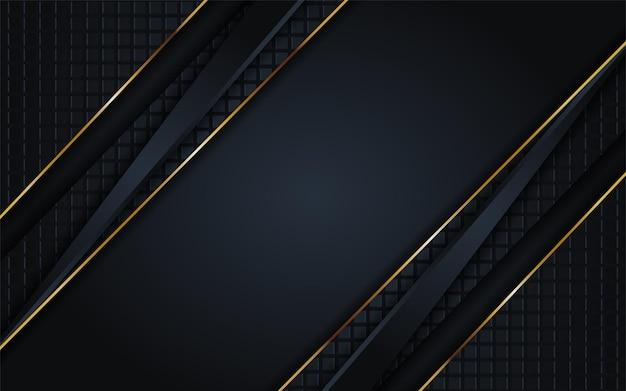 Combinazioni di sfondo scuro di lusso con linea oro