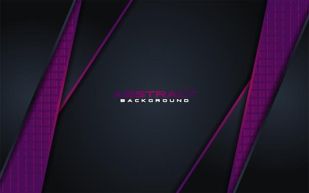 Combinazioni di sfondo scuro di lusso con elemento linea viola con sovrapposizione testurizzata