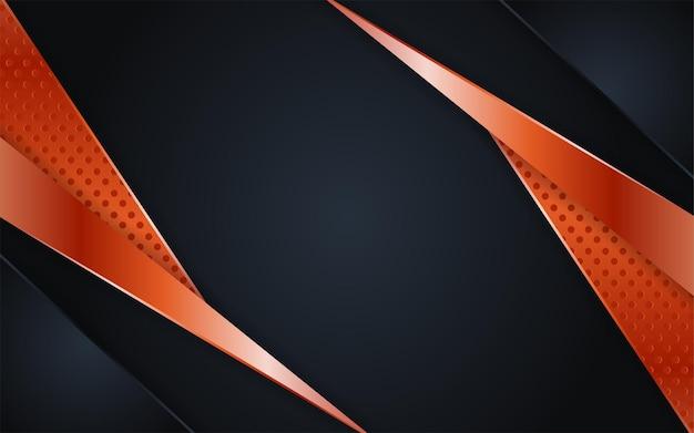 Combinazioni di fondo scuro di lusso con linea rosegold